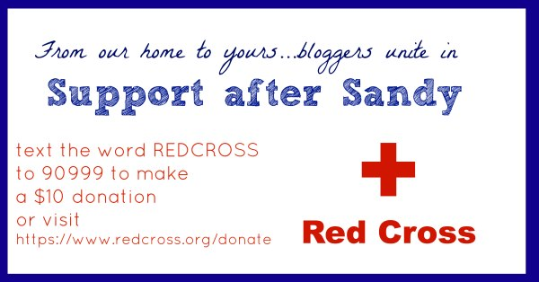 Sandy survivors - please donate to the Red Cross to help those desperately in need right now.