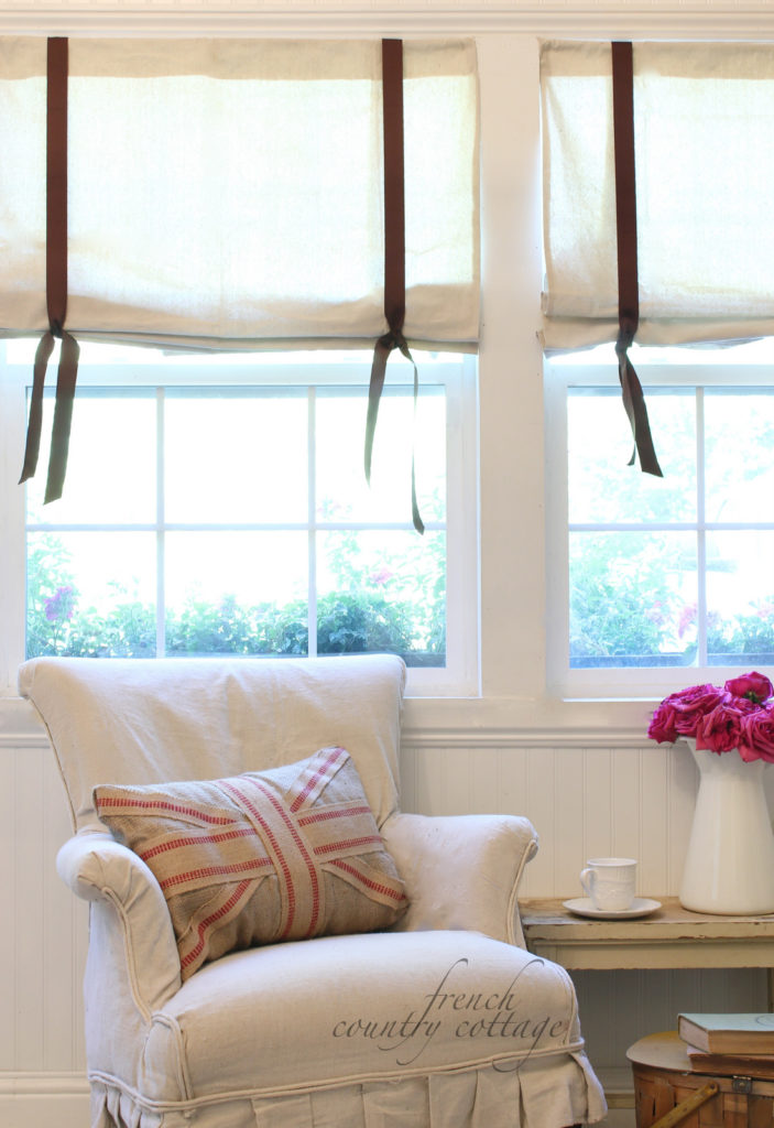 Drop Cloth Window Shades French Country Cottage