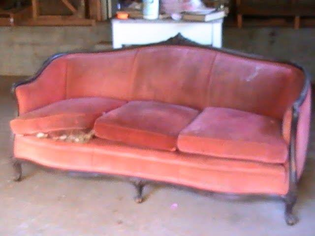 french sofa, french country, makeover, diy