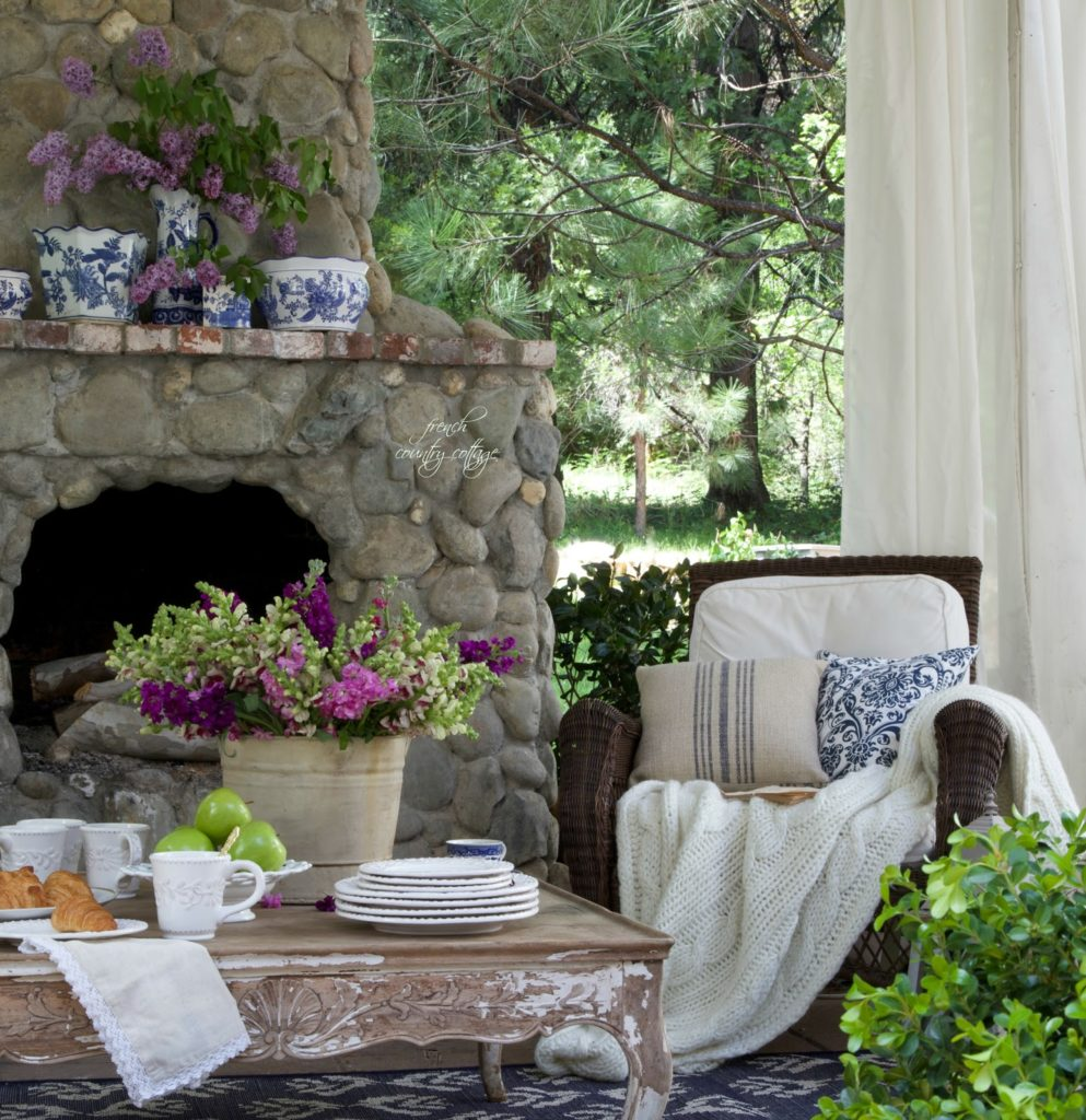 French Country Cottage, Patio, Outdoor Living
