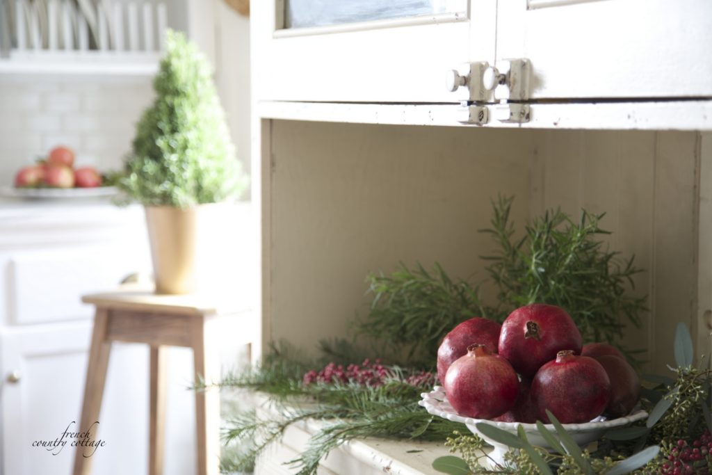 French Country Cottage Christmas Home Holiday Decorating kitchen