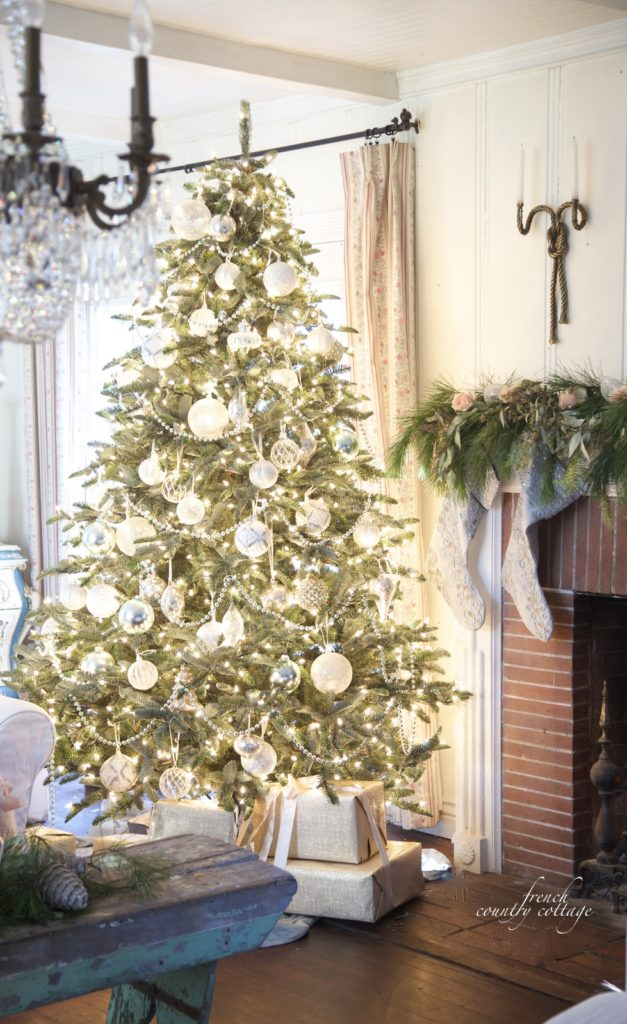 French Country Cottage Christmas Home Holiday Decorating tree