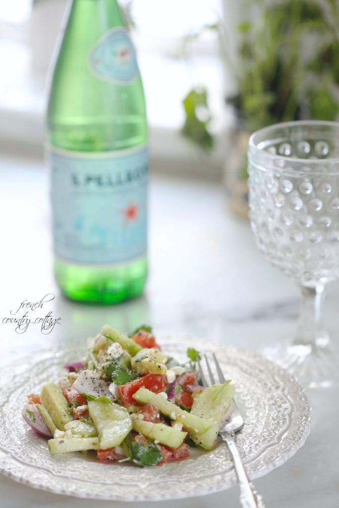 Fresh Avocado, Cumber, Tomato Salad ready to enjoy