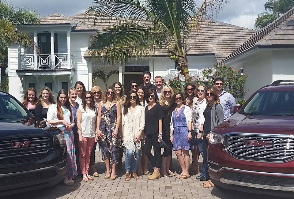 Our group of bloggers at the HGTV Dream Home in Florida