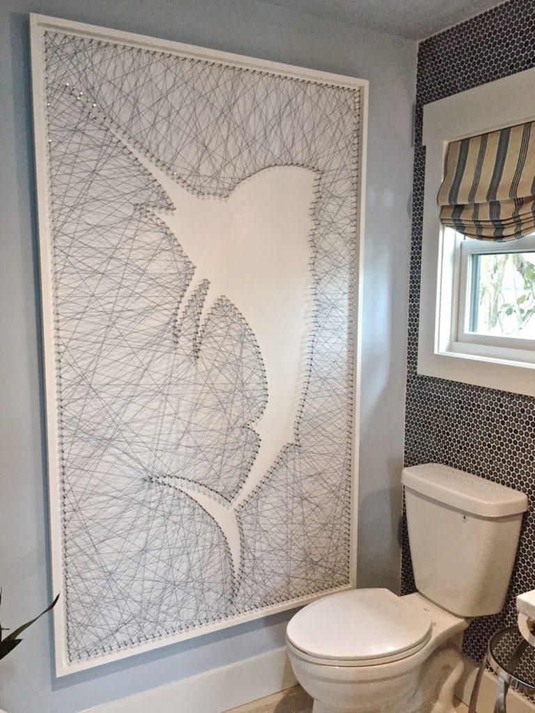 String Art in Bathroom