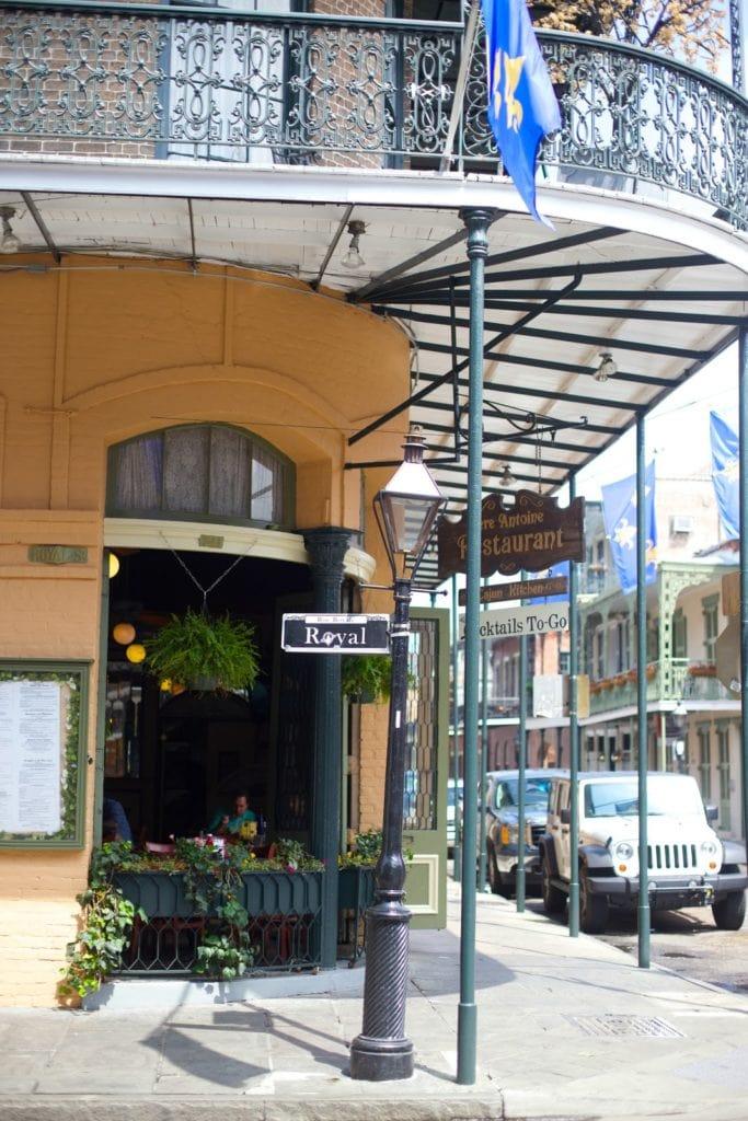 Royal Street corner in New Orleans, Louisiana