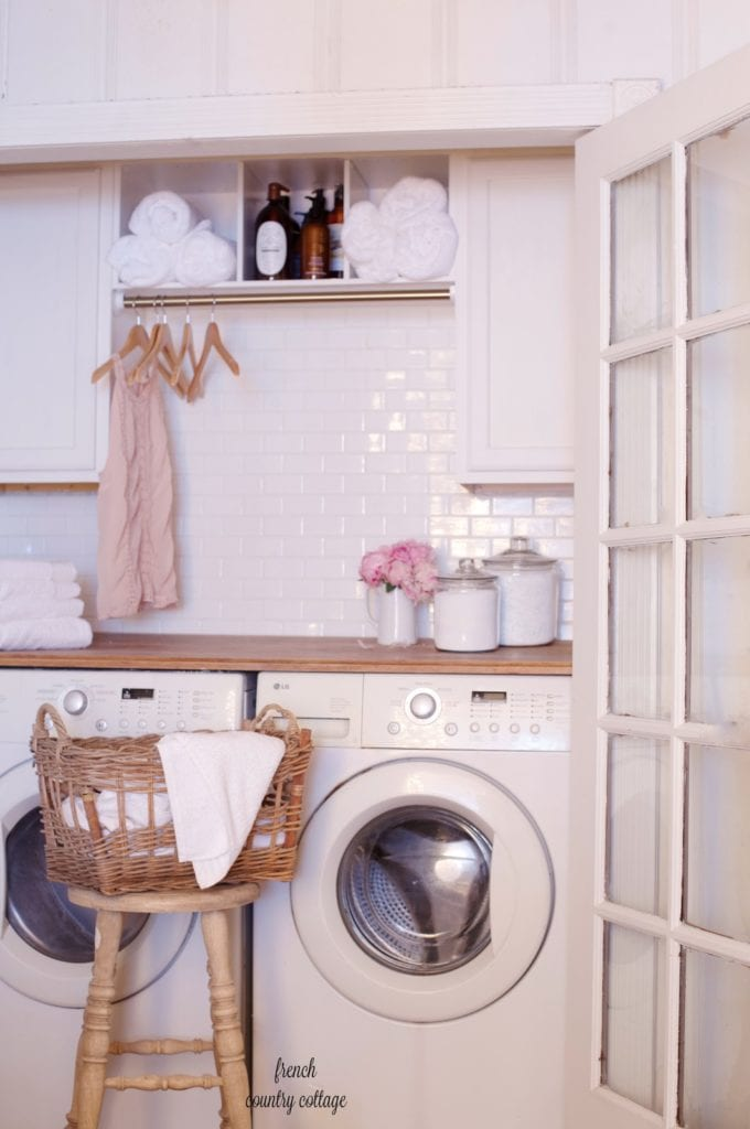 Vintage laundry room renovation inexpensive for under $500