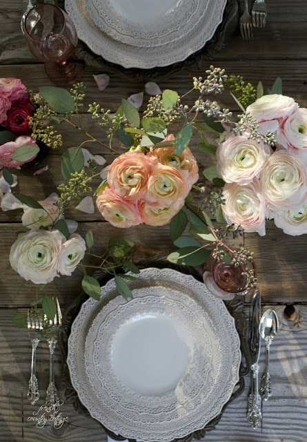 romantic inspired table setting