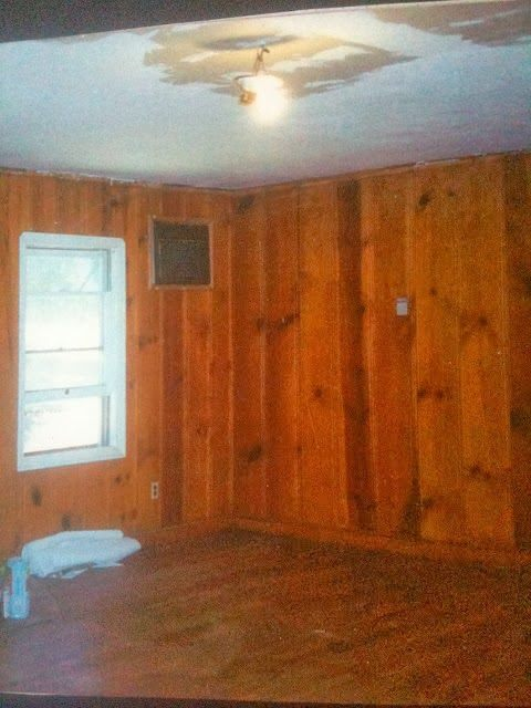 stained knotty pine walls antique
