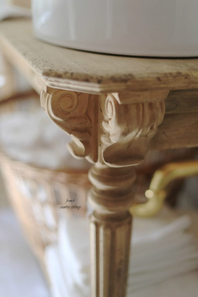 wood vanity details