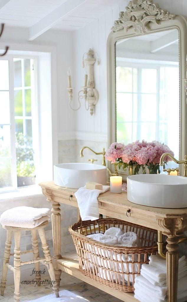 Custom designed vanity french bathroom