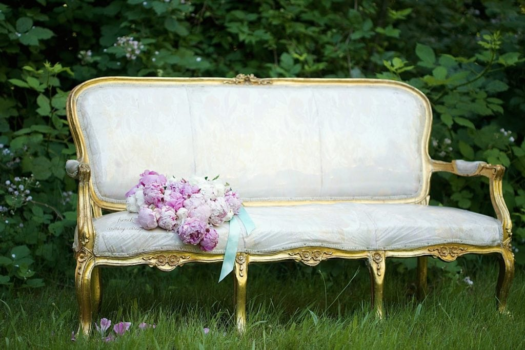 vintage french settee before