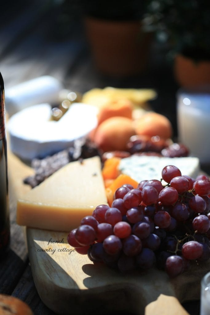 fresh grapes and parmesan cheese