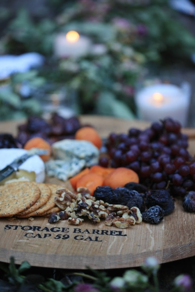 cheese board at party