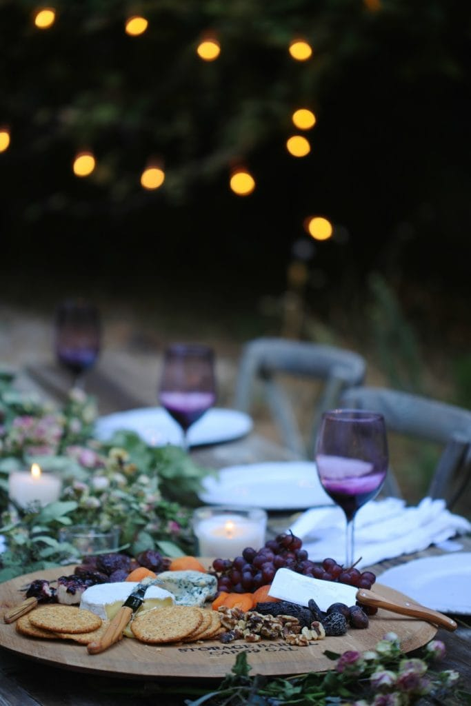 dinner party outdoors