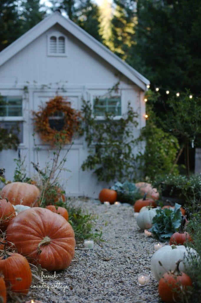 fall greenhouse decor