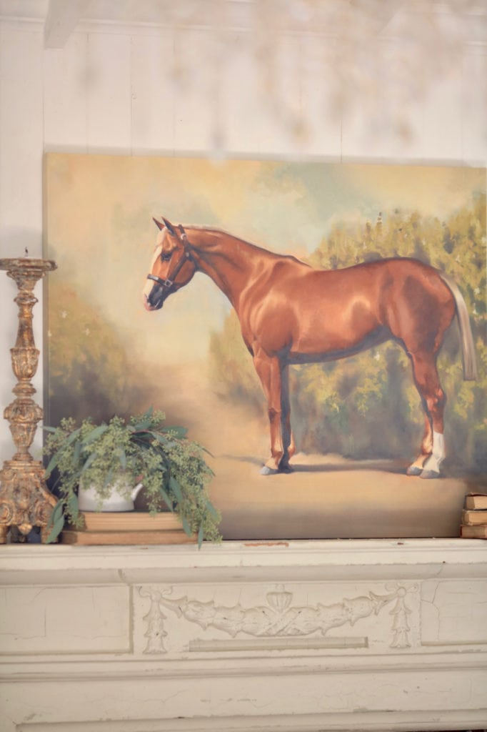 vintage style horse painting