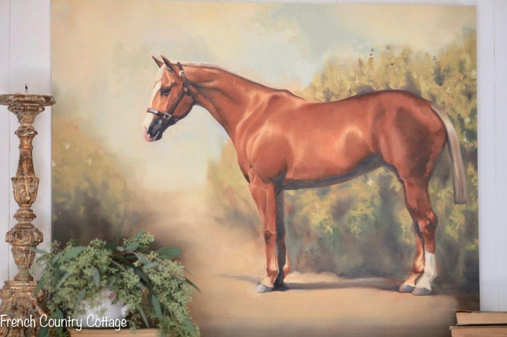 vintage style equestrian art