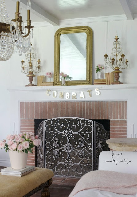 French Country Fridays 5 Simple Charming Mantel Decor Ideas Cottage