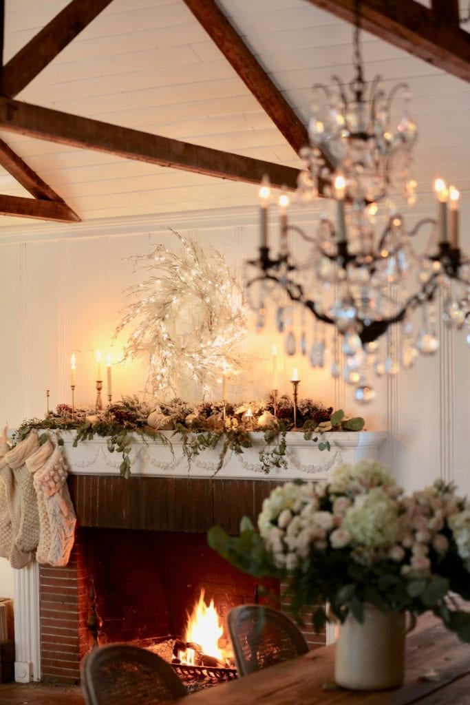 Natural Elegant Christmas Living Room Mantel French Country Cottage,Disney Christmas Outdoor Decorations