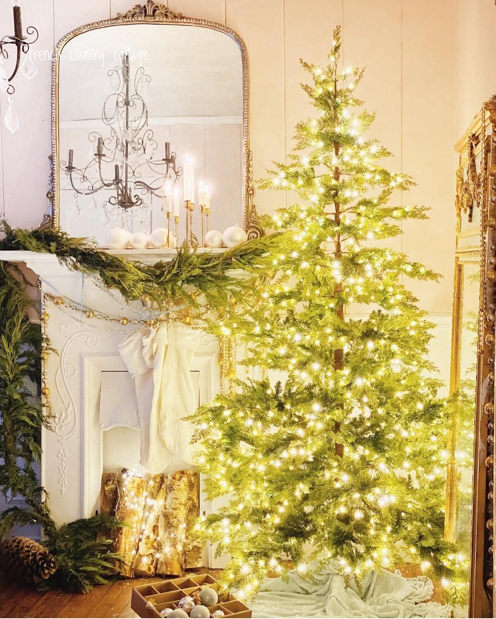 Christmas Decorating Ideas Simple Christmas Tree Decor French Country Cottage