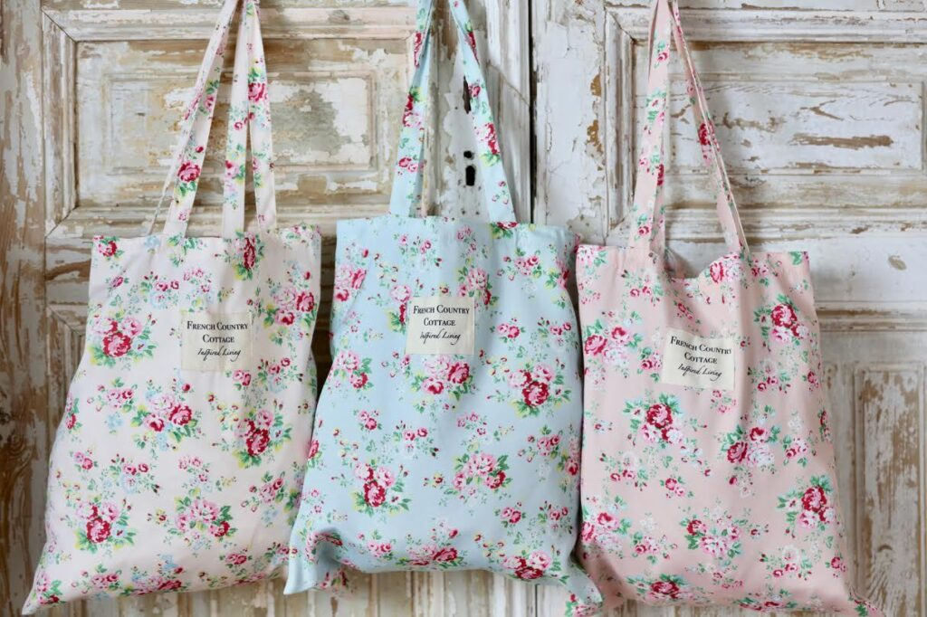FRench Country Cottage Floral Tote