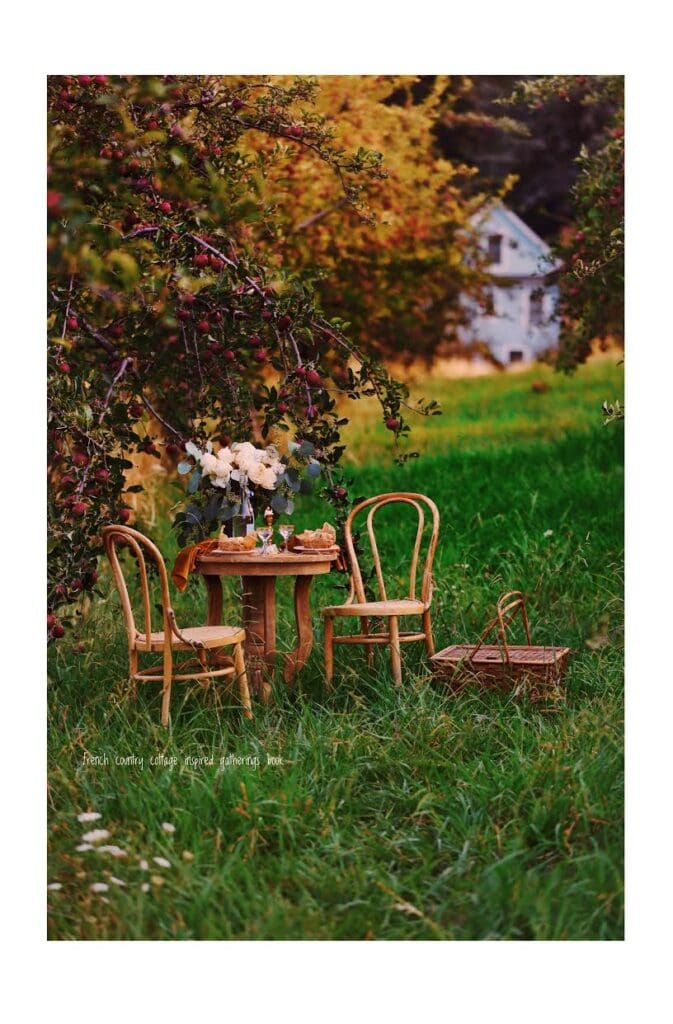 Apple Orchard table setting French Country Cottage Inspired Gatherings