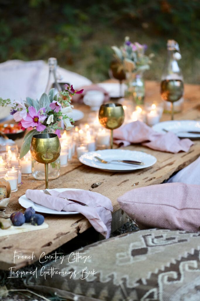 Blush linen napkins Inspired Gatherings Book