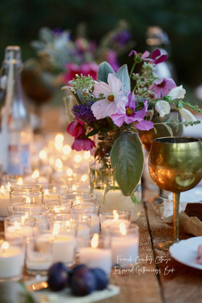 Inspired Gatherings book - candles on the table