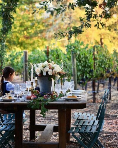 Wine Country Table setting