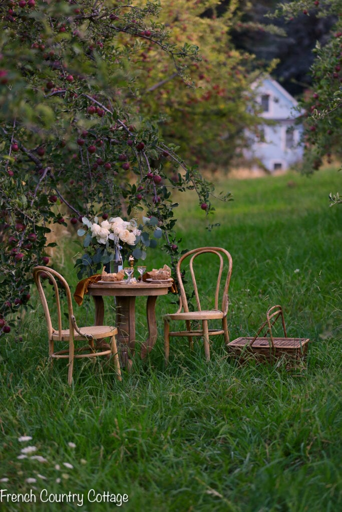apple orchard table for two