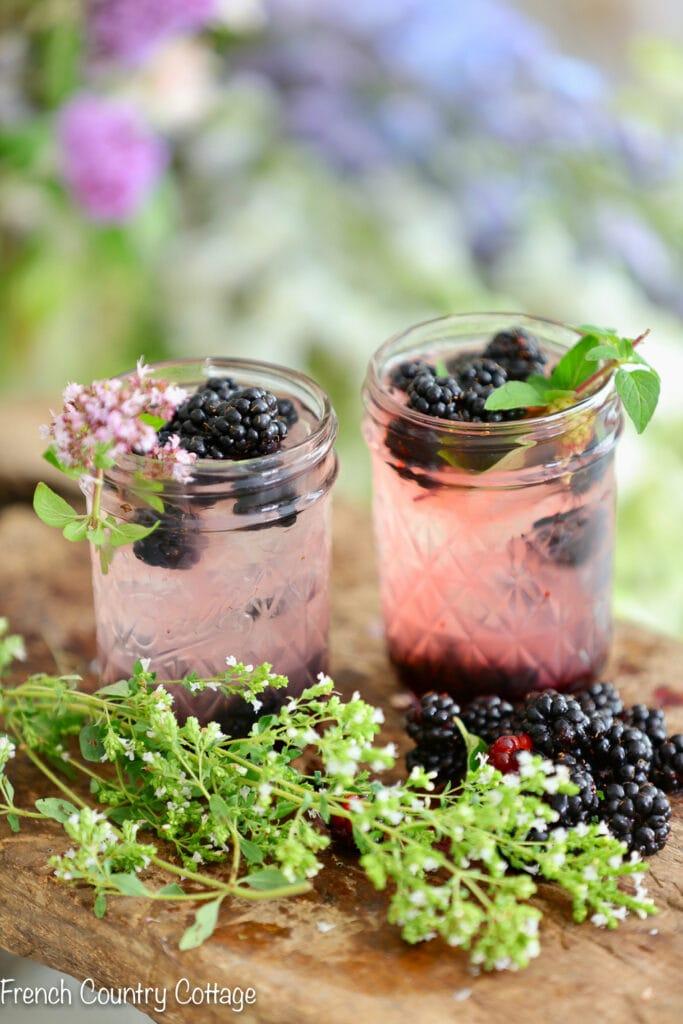 Fresh blackberry lemonade