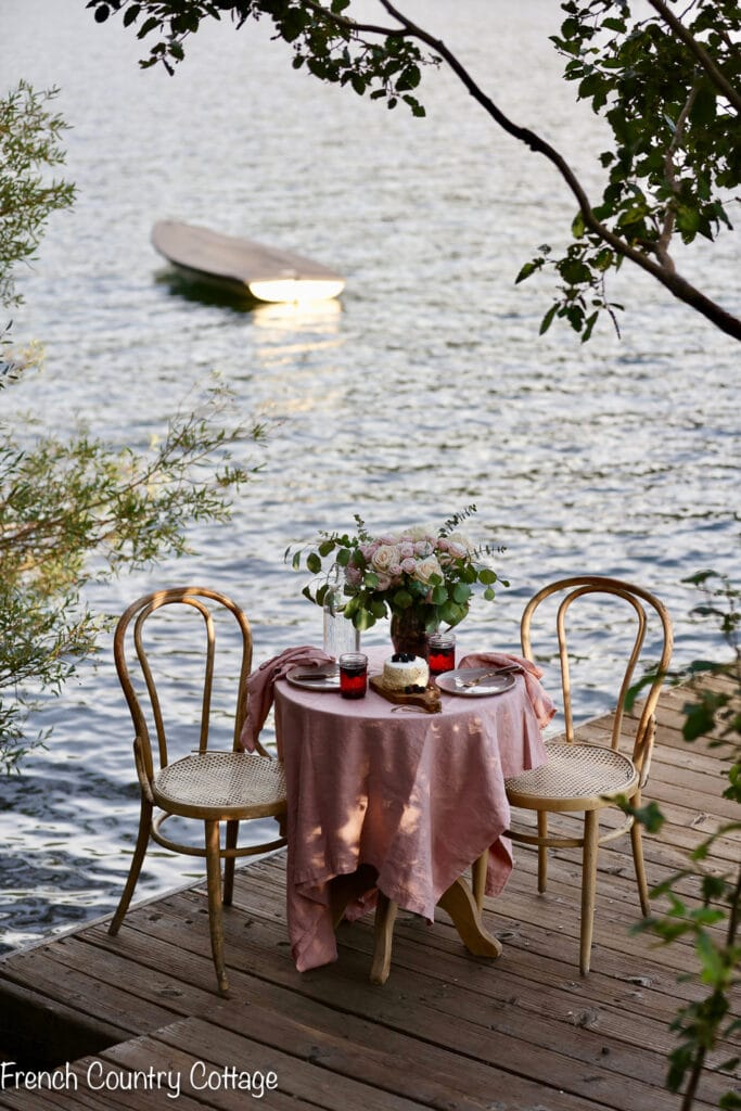 Table for two on a dock