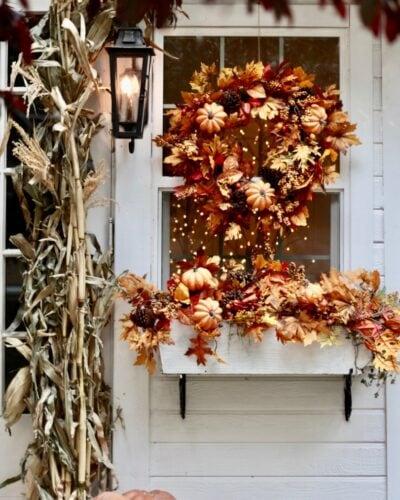 Autumn Wreath in window