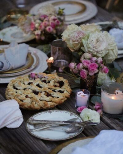 braided pie on table