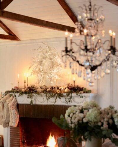 Natural Christmas Mantel