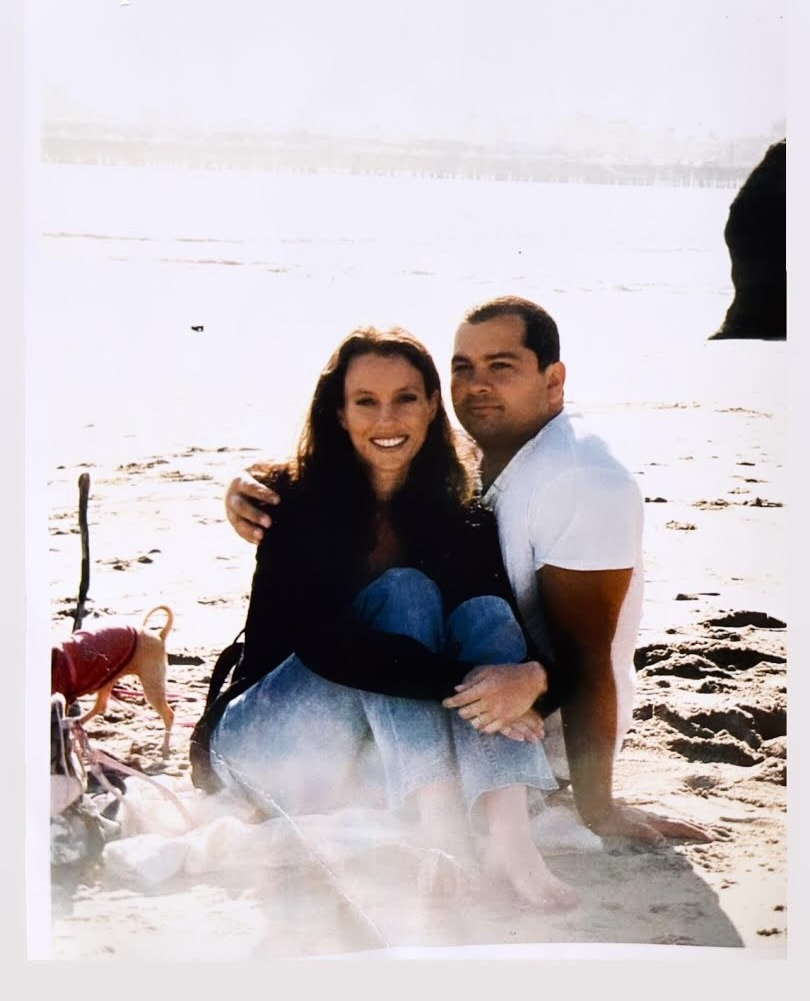 Photo of my husband and I at the beach