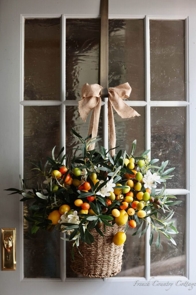Villa Cucina Collection lemons, kumquats and olive branches on door