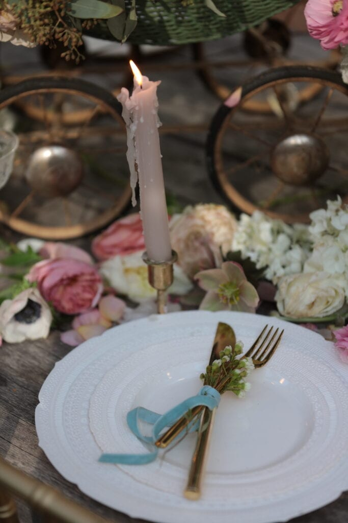 disposable plates on table