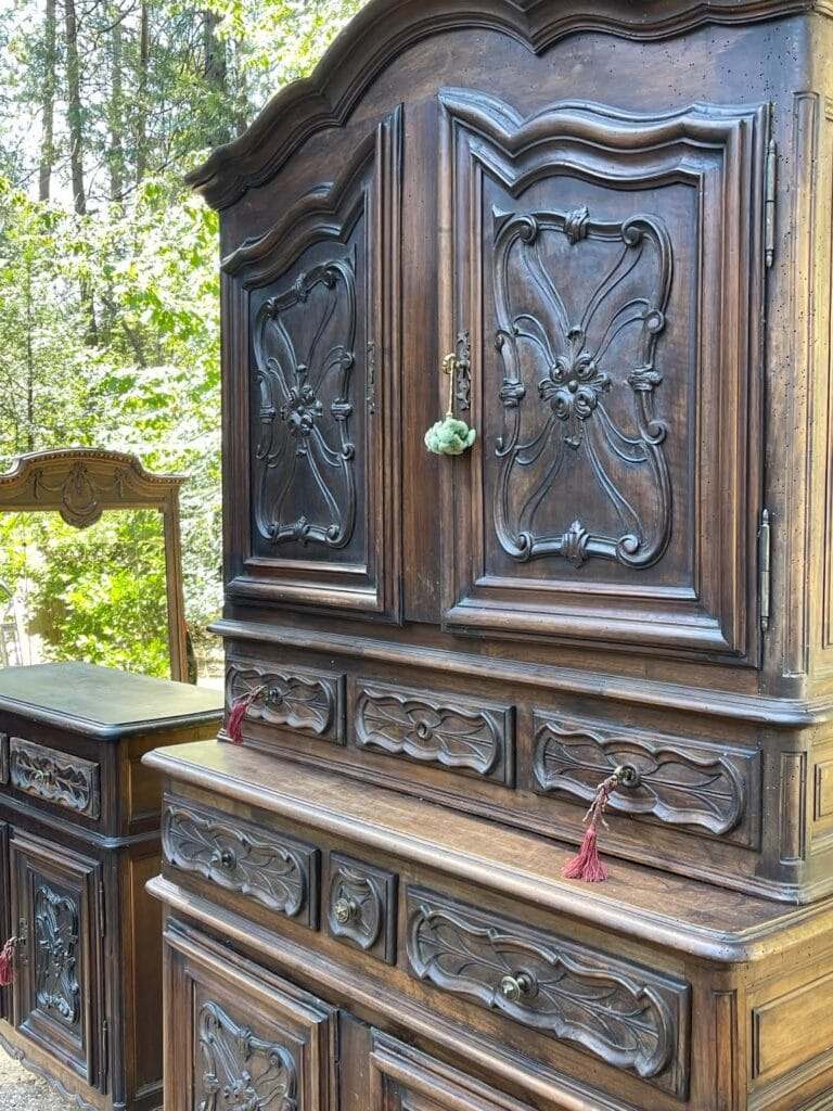 carved cupboard antique