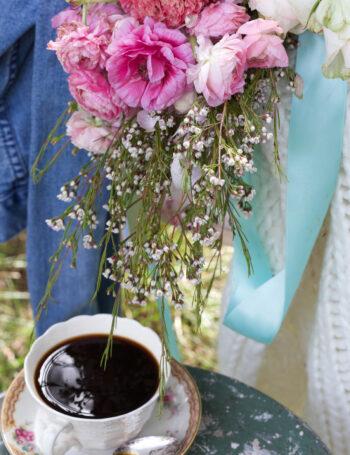 vintage teacup with flowers