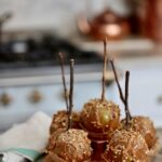 apples with caramel and nuts