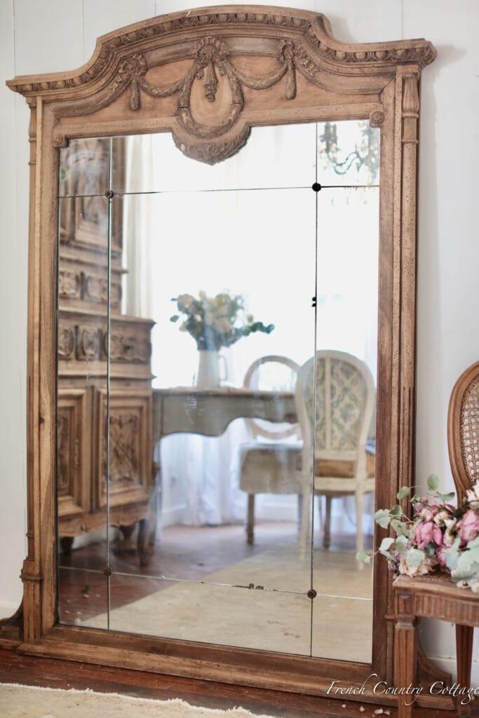 carved mirror antique