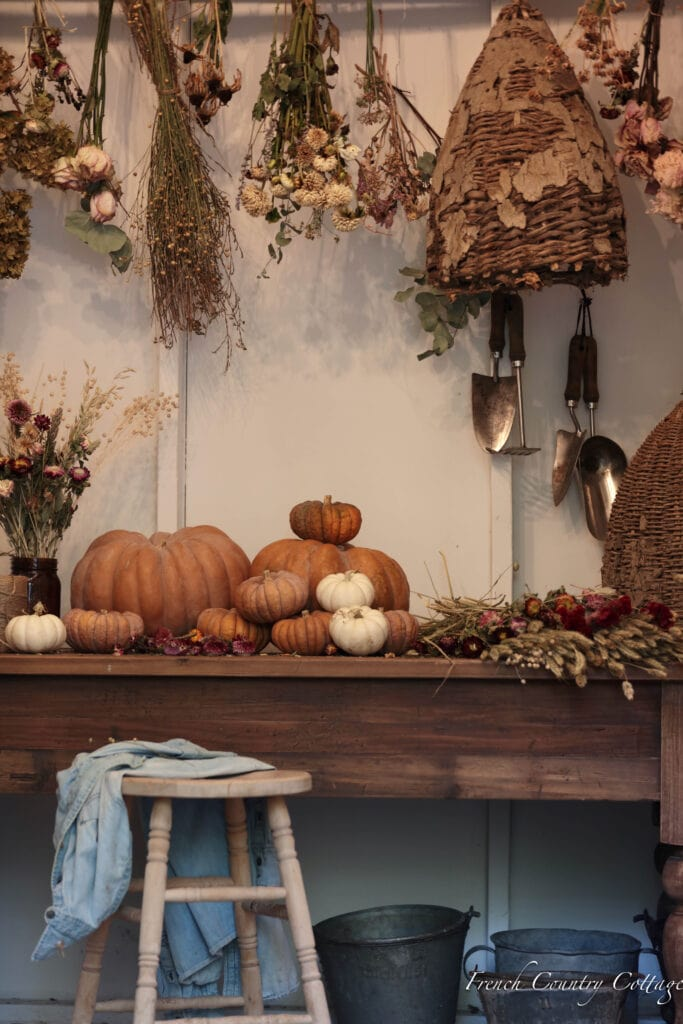 potting shed table inside