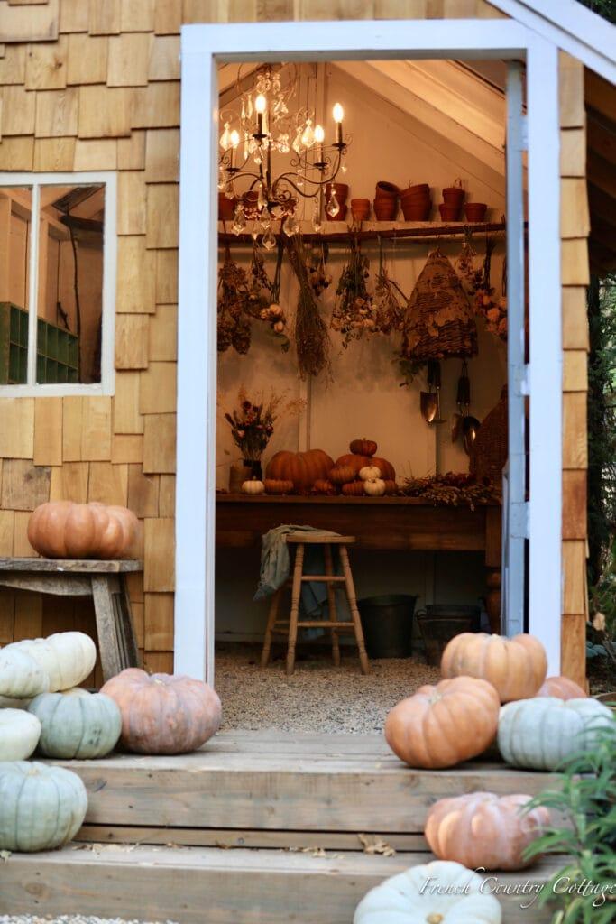 peek inside potting shed table